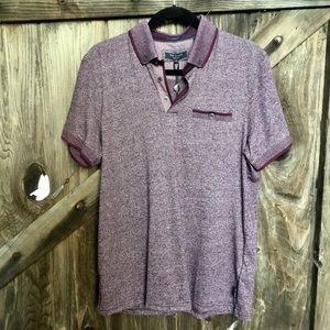Men's new Ted Baker purple polo shirt 4 L M
